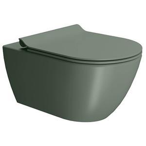 Ben Segno Wandcloset Dual Free Flush Xtra Glaze Donker groen