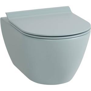Ben Segno Wandcloset Dual Free Flush Xtra Glaze Mat Azuur