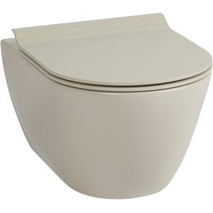 Ben Segno Wandcloset Dual Free Flush  Mat Beige Xtra Glaze