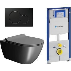 Ben Segno Free Flush Xtra Glaze Mat Zwart / Geberit UP320