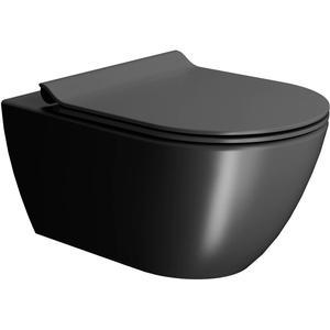 Ben Segno Wandcloset Free Flush Xtra Glaze Dual Mat Zwart