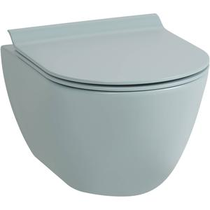 Ben Segno Compact Wandcloset 50cm Free Flush Xtra Glaze Mat Azuur