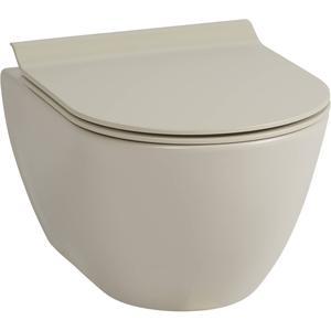 Ben Segno Compact Wandcloset 50cm Free Flush Mat Beige Xtra Glaze