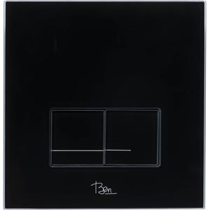 Ben Shine bedieningspaneel 2-knops tbv BPF/BPSF glas zwart