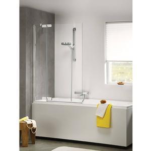 Sealskin Get Wet. Custom douchecabine badwand links 100x140 cm zilver hoogglans helder glas