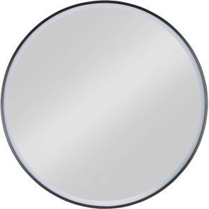 Ben Circulo Ronde Spiegel LED-verlichting 80cm mat zwart