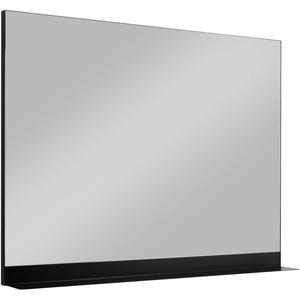 Ben Fossano spiegelpaneel met planchet 100x75cm mat zwart