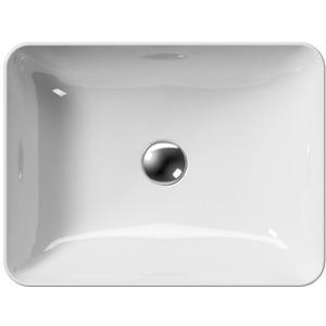 Ben Stilo keramische opbouwwastafel 50x38 cm wit Xtra Glaze