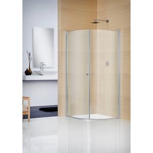 Sealskin Duka Multi Douchecabine kwartrond Helder Glas 90x195 cm Zilverhoogglans