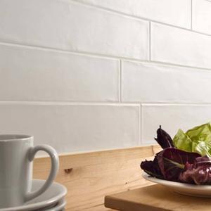 Wandtegel Dom Ceramiche Ascot Smooth 10x60x- cm White 1,08M2