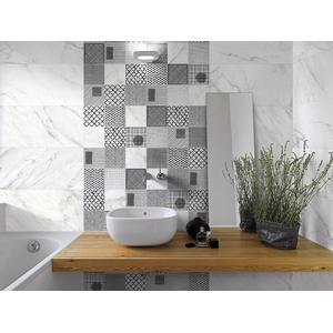 Wandtegel Terratinta Stonemarble 15x15 cm white lucas 1ST