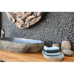 Teak & Living waskom 80-90 cm natuursteen