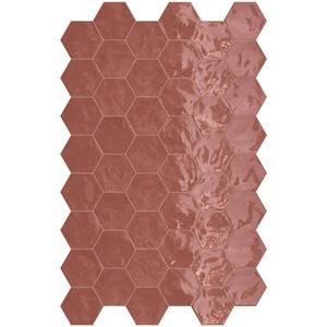 Wandtegel Terratinta Hexa 17,3x15 cm cherry pie 0,46M2
