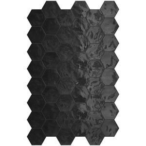 Wandtegel Terratinta Hexa 17,3x15 cm black 0,46M2