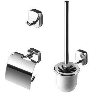 Geesa Thessa toilet accessoireset 3-in-1 Chroom