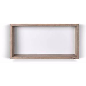 Looox Wooden Collection wand box met achterplaat wit eiken/mat wit