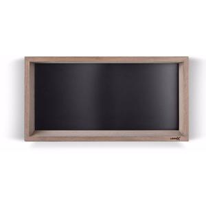 Looox Wooden Collection wand box met achterplaat mat zwart eiken/mat zwart