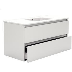 Primabad Third Editions Wastafelonderkast 100x45x50 cm Acryl hoogglans wit
