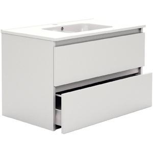 Primabad Third Editions Wastafelonderkast 80x45x50 cm Acryl hoogglans wit