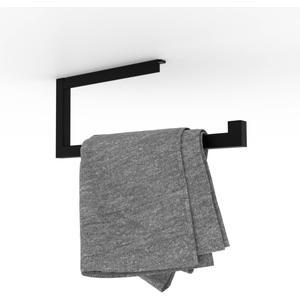 Looox Roll Handdoekhouder 35x14 cm Mat Zwart