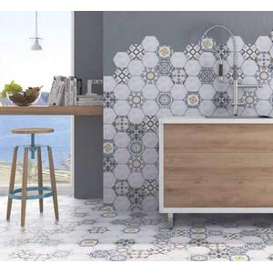 Vloertegel Terre d'Azur Bizantino 15,5x18x1 cm Blanco 0,44M2