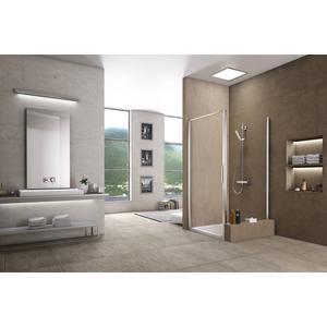 Sealskin Duka 1200 zijwand ingekort rechter uitvoering 80,1-90(B) x tot 170(H) cm mat zilver helder glas + sealglas