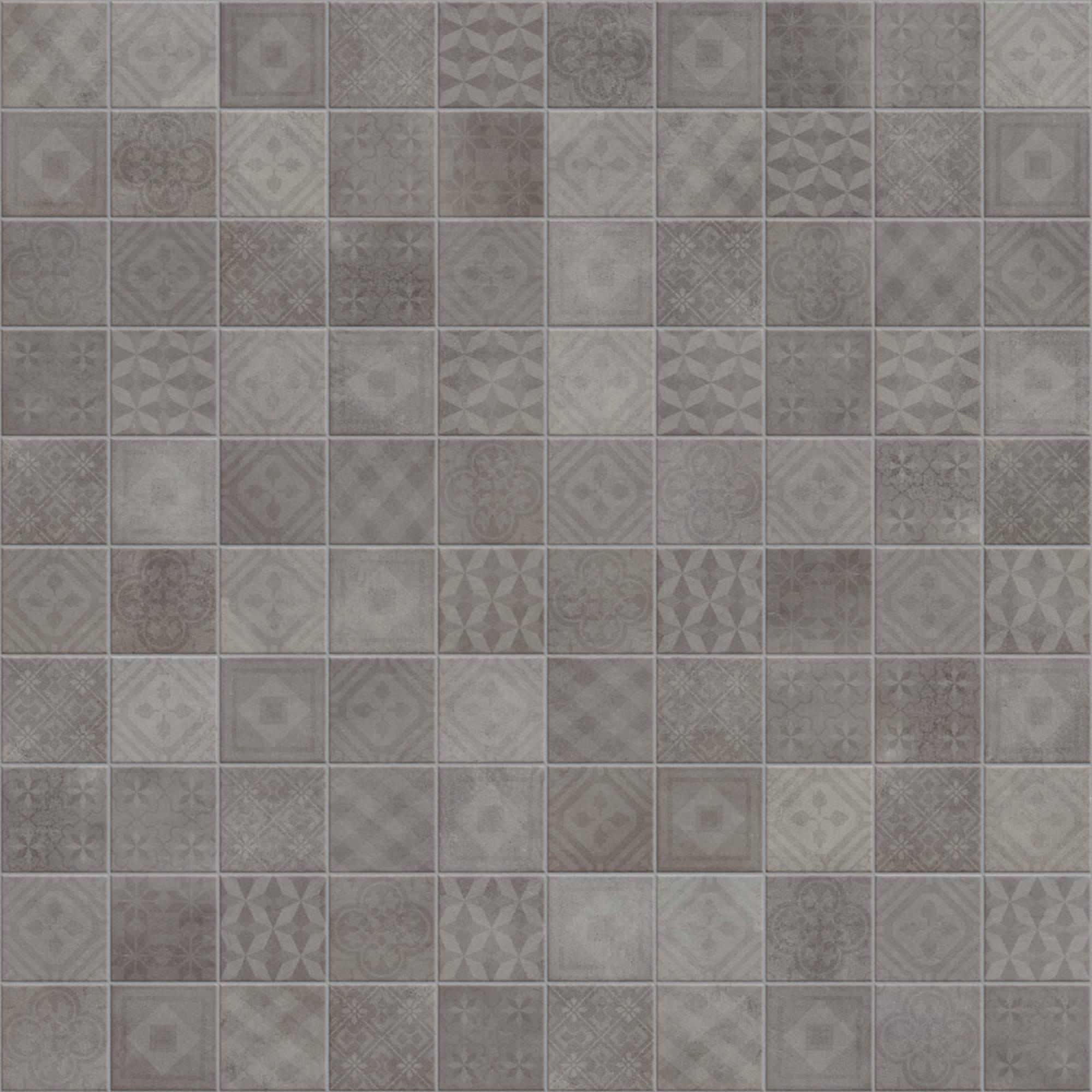 Vloertegel Terratinta Betonsquare 10x10 cm clay mud decor 0,88 M2