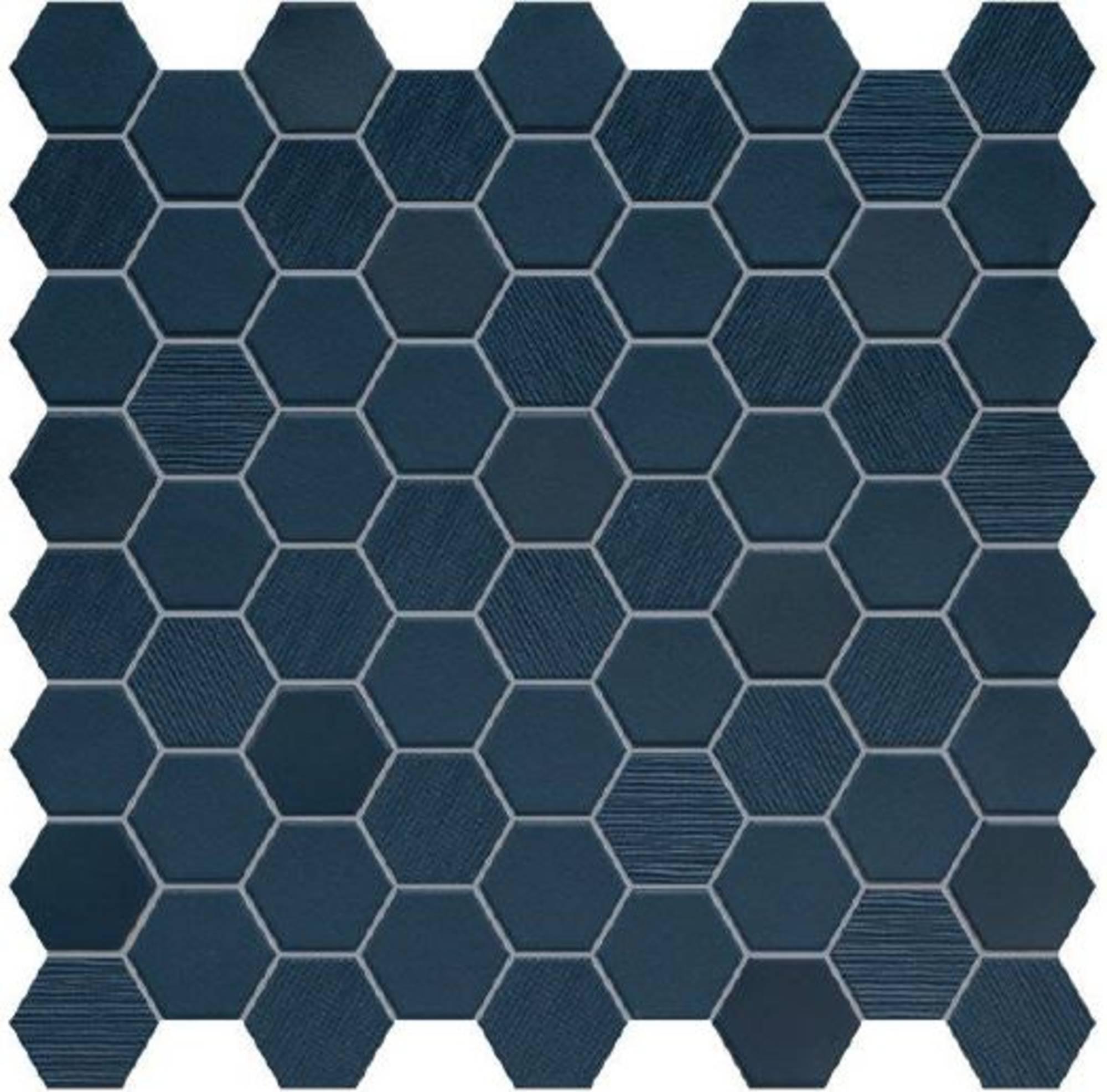 Mozaïek Terratinta Betonstil 31,6x31,6x0,4 cm Hexa Deep Navy 10ST