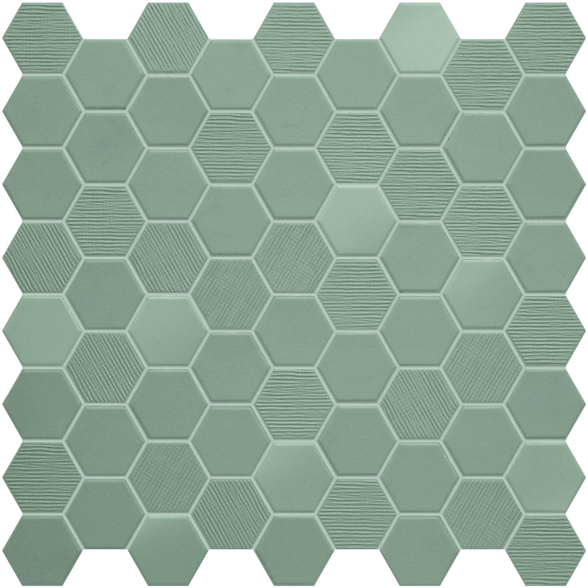 Mozaïek Terratinta Betonstil 31,6x31,6x0,4 cm Hexa Wild Sage 10ST