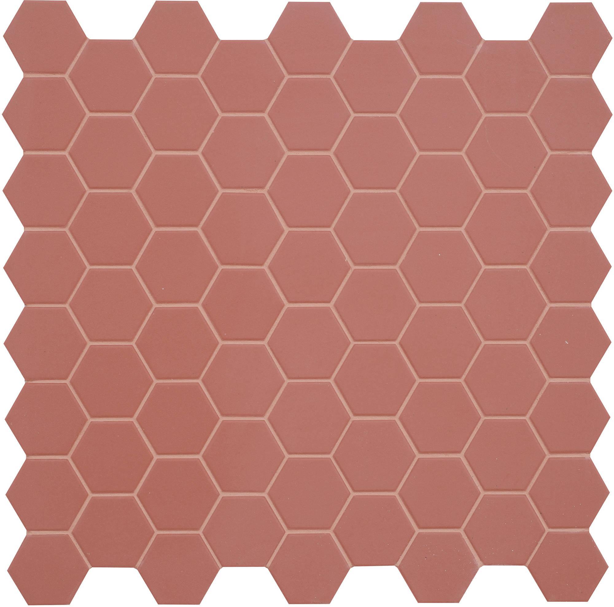 Mozaïek Terratinta Hexa 31,6x31,6 cm cherry pie 10ST