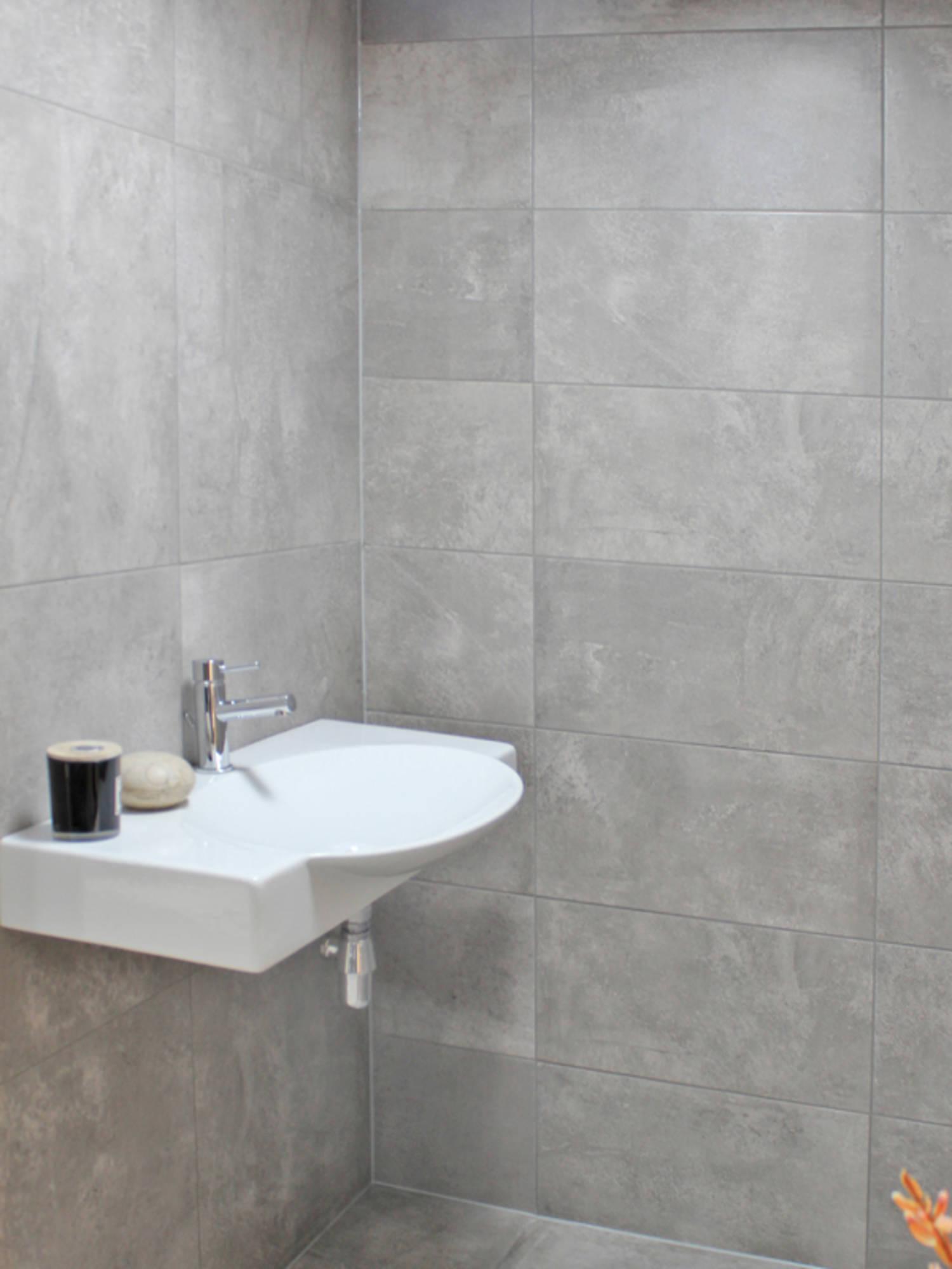 Vloertegel Imola Concrete Project 60x60x- cm Grey G Lp 1,08M2