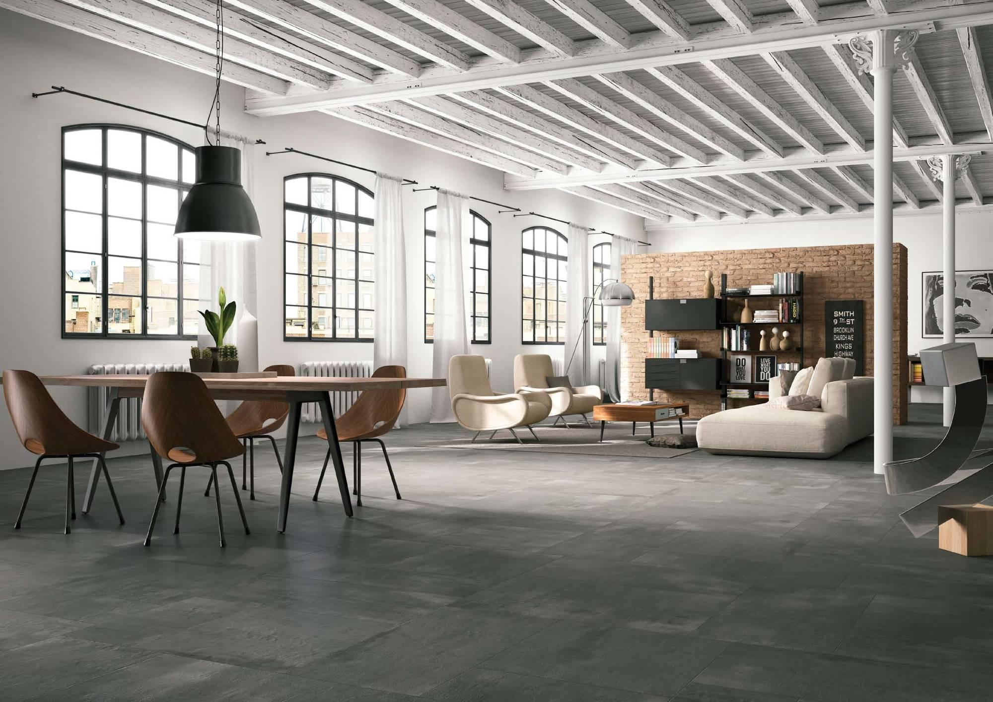 Vloertegel Imola Creative concrete 60x60x1,05 cm Grijs 1,08M2