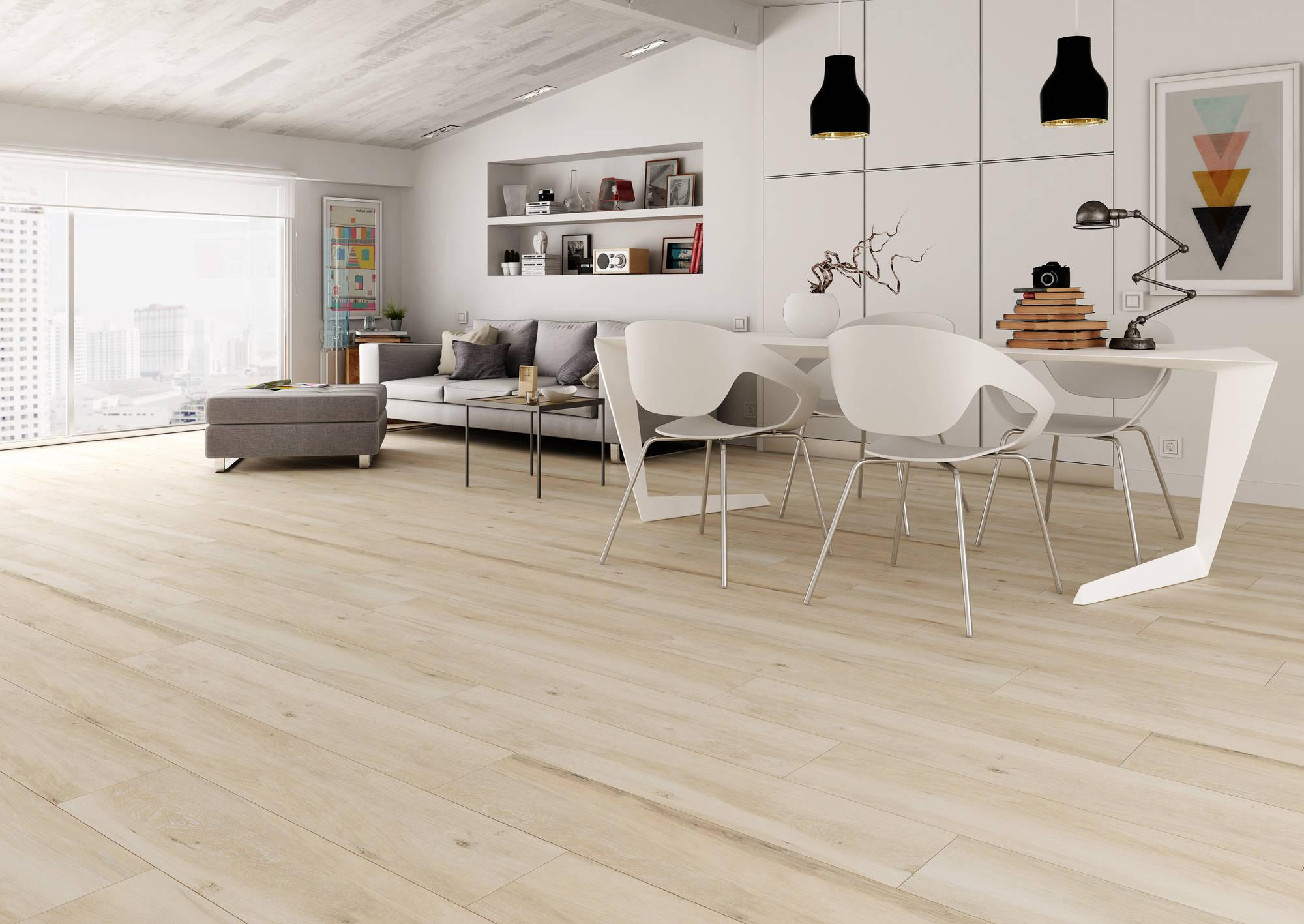 Vloertegel El Halcon Atelier 15,4x60 cm Beige 0,93 M2