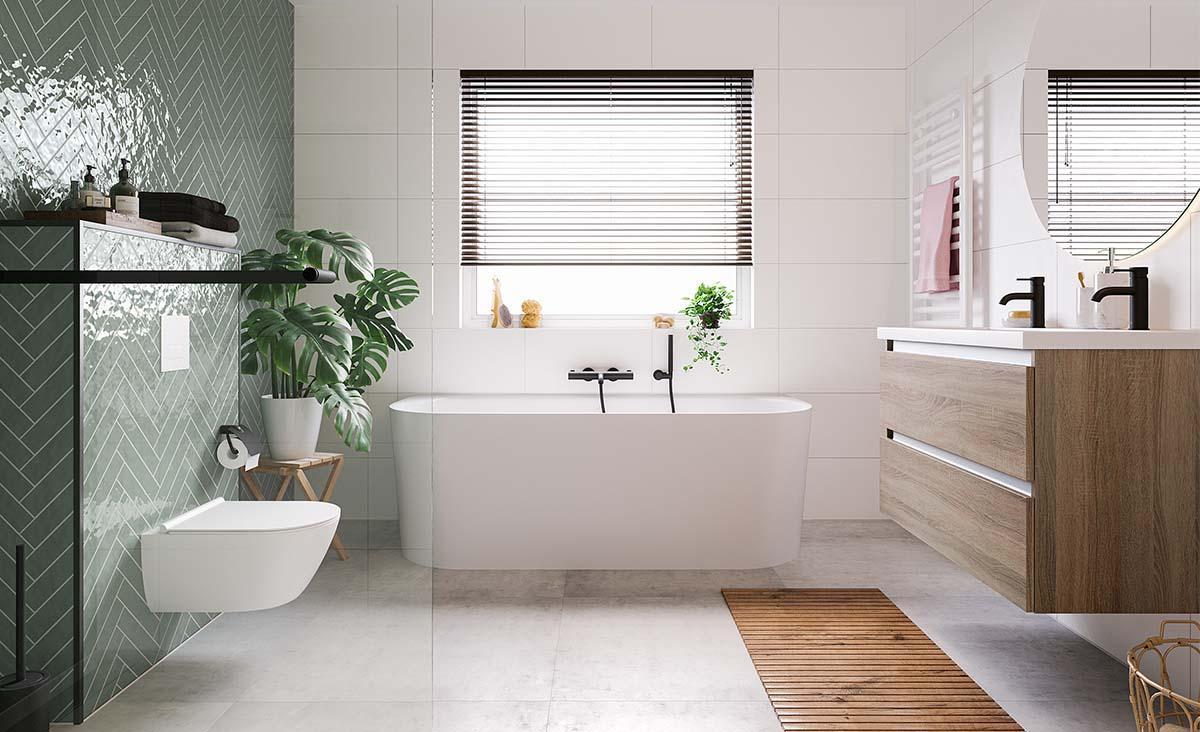 Creëer jouw eigen Scandinavische badkamer