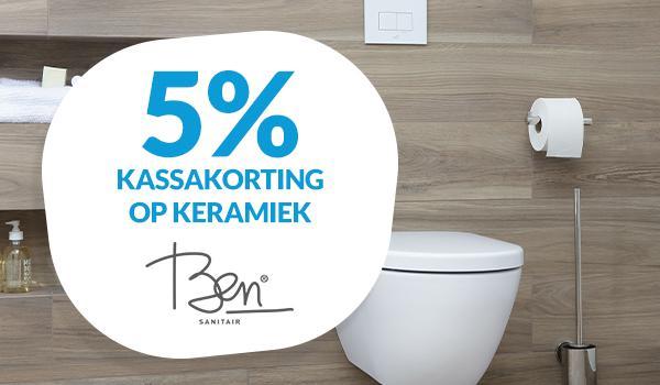 5% korting op Ben keramiek