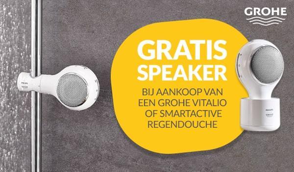 Gratis aquatunes speaker bij aankoop van een Grohe Vitalio