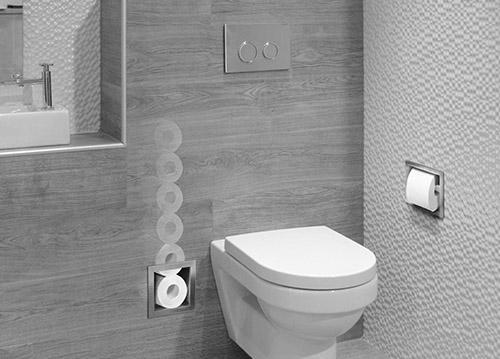 LoooX inbouw toiletrolhouder