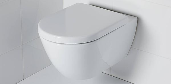 Toilet met verdekte bevestiging
