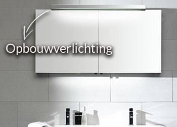 Spiegelkast met opbouwverlichting
