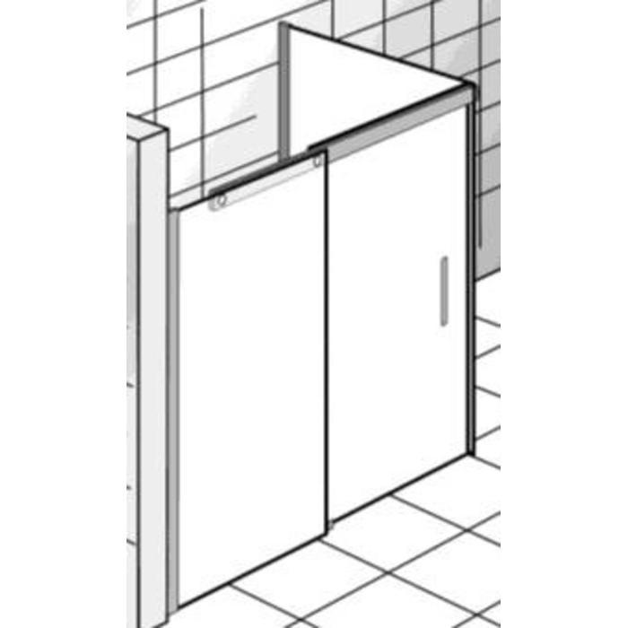 Ben Futura Douchecabine Rechthoek met schuifdeur 120x90x220cm Chroom/Grijs glas
