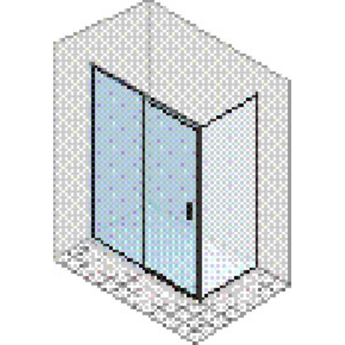 Ben Edition 220 Schuifdeur voor zijwand Links 120x220cm Zilver hoogglans/Helder glas