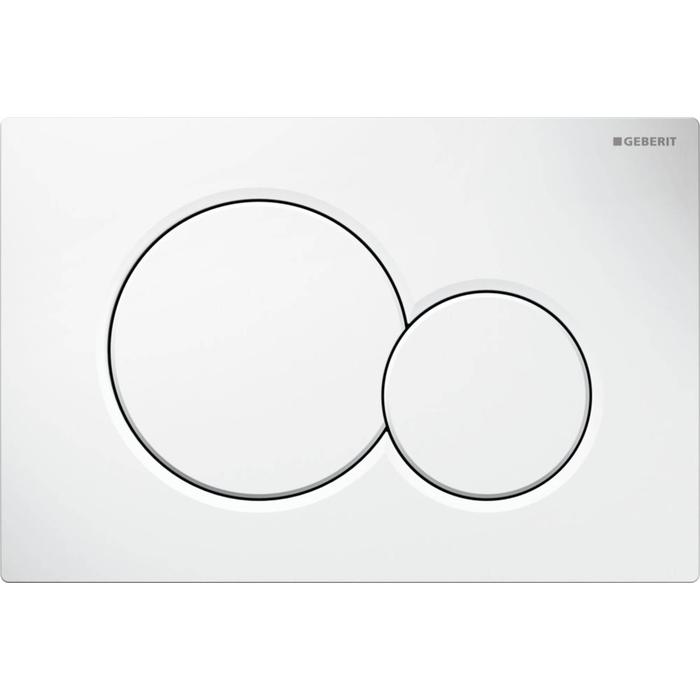 Tweedekans Geberit Sigma 01 bedieningsplaat tweeknops frontbediening Wit 00404