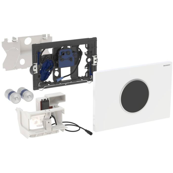 Geberit Sigma 10 drukplaat infrarood batterij chroom/mat-chroom/chroom