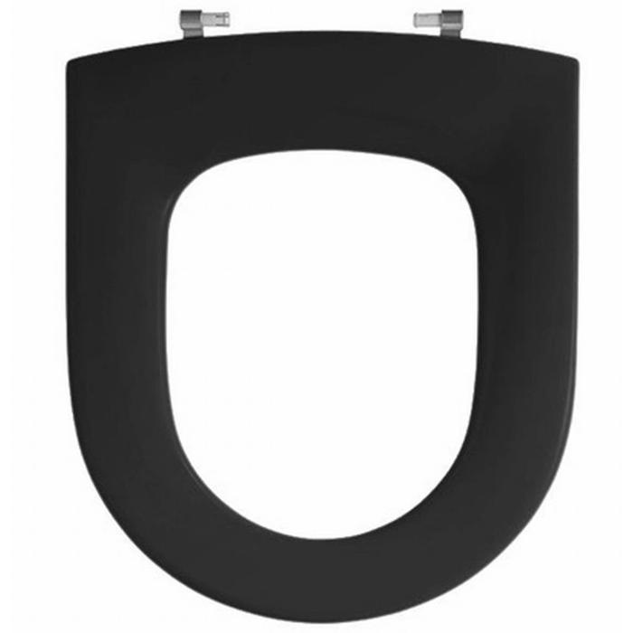 Pressalit Objecta D closetzitting polygiene zonder deksel Zwart