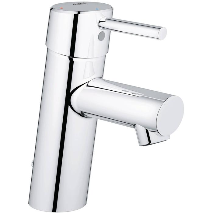Grohe Concetto S-size wastafelkraan 28 mm met ketting Chroom