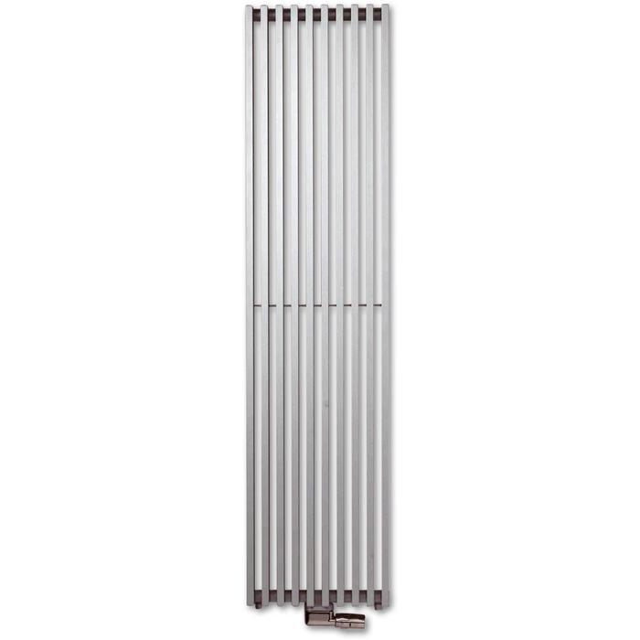 Vasco Zana Verticaal ZV-1 designradiator as=0066 180x46cm 1289W Platina Grijs