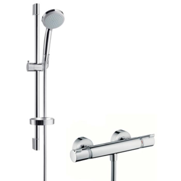Hansgrohe Croma 100 Variojet doucheset 65 cm. met ecostat thermostaat Chroom