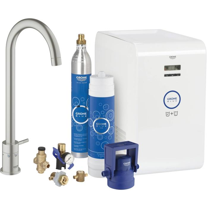 Grohe Grohe Blue Mono Chilled & Sparkling Supersteel