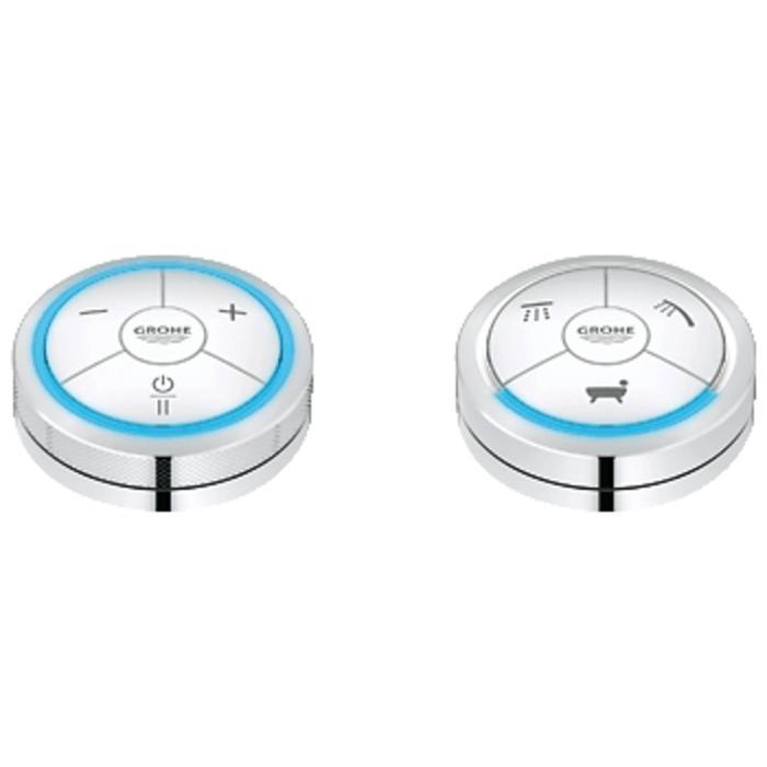 Grohe F-Digital badthermostaat met afstandsbediening en omstel Chroom