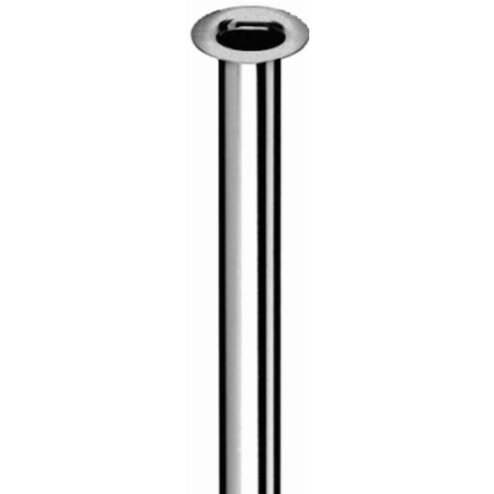 Schell aansluitbuisje 10mm x500mm met kraag 1/2 inch Chroom